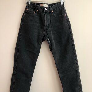LEVIS black 100% cotton denim jeans size 2